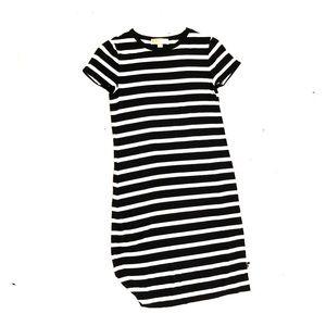 MK black and white tee shirt dress